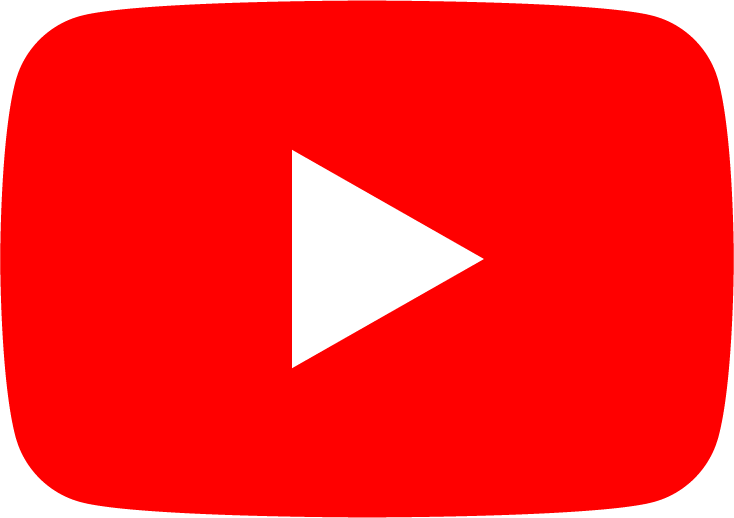 YouTube logo link icon